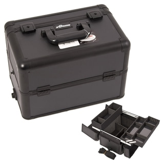 Sunrise Black Dot Aluminum Makeup Case