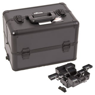 Sunrise Black Dot 8-Tier Aluminum Makeup Case