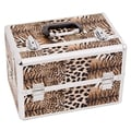 Justcase Brown Leopard Extendable Tray Makeup Case