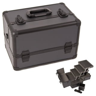 Justcase Black Dot 3-Tier Makeup Case