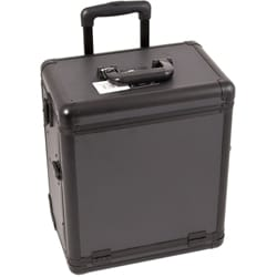 Sunrise Black Dot Rolling Makeup Train Case