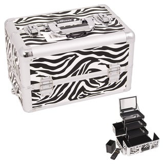 Sunrise Zebra Aluminum Makeup Case
