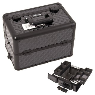 Sunrise Black Diamond Aluminum Makeup Train Case
