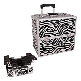Casemetic Zebra 3-Tier Rolling Makeup Case