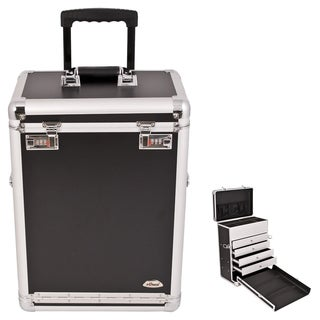 Sunrise Black Rolling Makeup Train Case