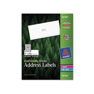 Avery EcoFriendly White Adress Labels (750 Labels)
