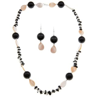 Black and White Necklace Set