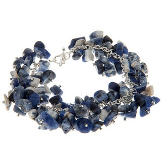 Blue and White Lapis Chip Bracelet
