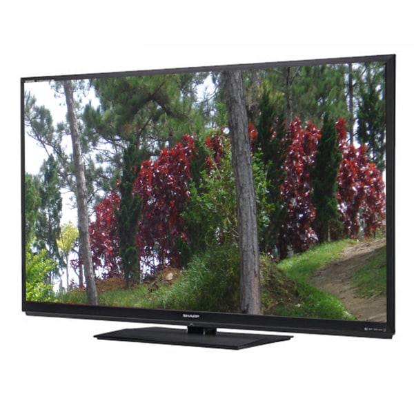 "Sharp AQUOS Quattron LC-60C8470U 60"" 1080p 240Hz 3D WiFi LED TV (Refurbished)"