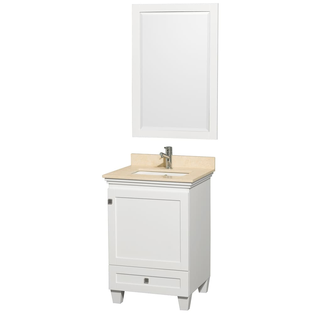 Wyndham Collection Acclaim White/ Ivory Marble 24-inch Single Bathroom Vanity Set at Sears.com