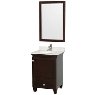 Acclaim Espresso/ Carrera Marble 24-inch Single Bathroom Vanity Set