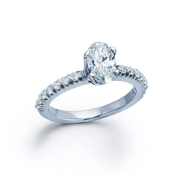 14k White Gold 3/4ct TDW Diamond Engagement Ring (G-H, I1-I2)