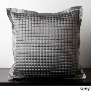 Analu Checkered Down Filled or Poly Filled Throw Decorative Pillow