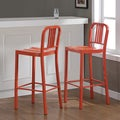 Metal Tangerine Bar Stools (Set of 2)