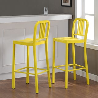 Metal Lemon Bar Stools (Set of 2)
