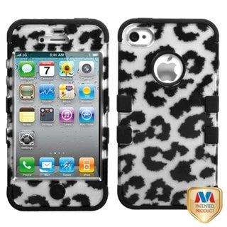 MYBAT Leopard Silver/ Black TUFF Hybrid Case for Apple� iPhone 4/ 4S