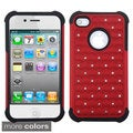 ASMYNA Red/ Black Luxurious Total Defense Case for Apple iPhone 4/ 4S