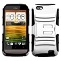 ASMYNA White/ Black Advanced Armor Stand Protector Case for HTC One V