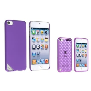 Insten Purple iPod Case Covers for Apple iPod Touch 5th/ 6th Generation