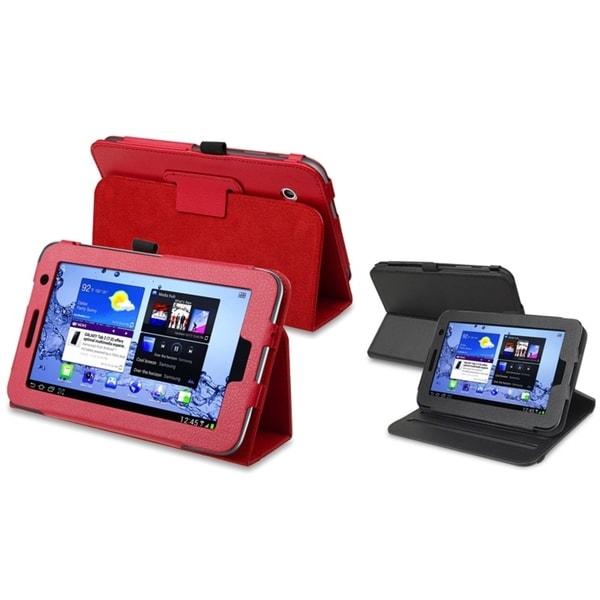 INSTEN Leather Tablet Case Cover/ Swivel Leather Tablet Case Cover for Samsung Galaxy Tab 2 7.0