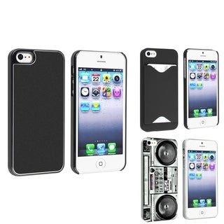BasAcc Black Aluminum/ Old Player/ Black Case for Apple� iPhone 5