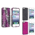 BasAcc Purple Safari/ Black Bling/ Pink Bling Case for Apple iPhone 5