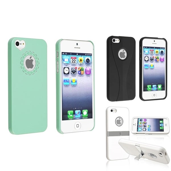 INSTEN Snap-on Phone Case Covers for Apple iPhone 5 (Pack of 3)