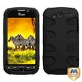 MYBAT Rubberized Black/ Black Fishbone Phone Cover for HTC myTouch 4G