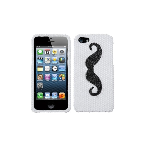 INSTEN Handlebar Moustache Series Diamante Phone Case Cover for Apple iPhone 5