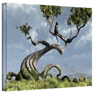 Cynthia Decker 'Sitting Tree' Gallery Wrapped Canvas