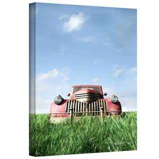Cynthia Decker 'Red Truck' Gallery Wrapped Canvas