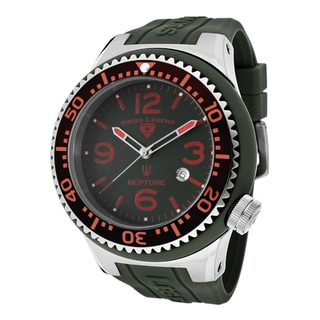 Swiss Legend Men's 'Neptune' Hunter Green Silicone Watch
