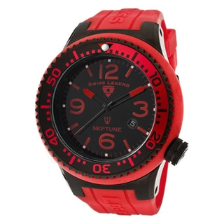 Swiss Legend Men's 'Neptune' Red Silicone Watch