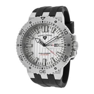 Swiss Legend Men's 'Challenger' Black Silicone Watch