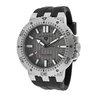 Swiss Legend Men's 'Challenger' Black Silicone Watch