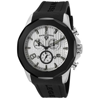 Swiss Legend Men's 'Monte Carlo' Black Silicone Watch