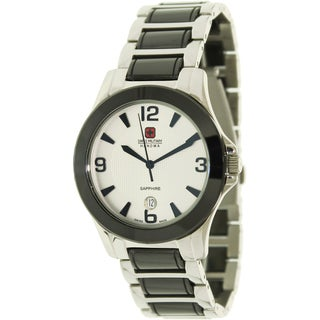 Swiss Military Hanowa Men's 'Swiss Eleganza' Two-tone Silver Dial Watch