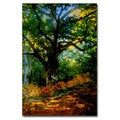 Claude Monet 'Bodmer Oak, Fontainebleau Forest' Canvas Art