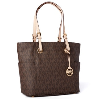 MICHAEL Michael Kors East/West Brown Signature Tote Bag