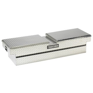 Tradesman Diamond Plated Silver 60-inch Aluminum Gull Wig Cross Bed Truck Tool Box