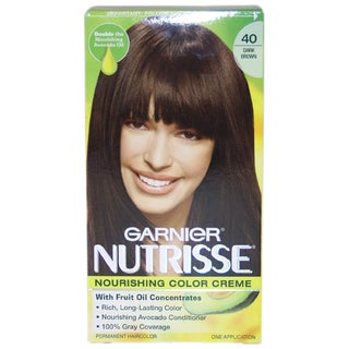 Garnier Nutrisse Nourishing Color Creme #40 Dark Brown Hair Color