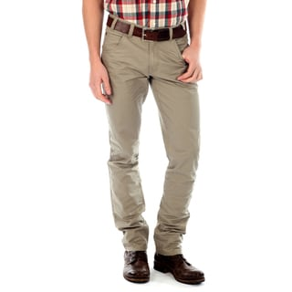 191 Unlimited Men's Khaki Straight Leg Pants