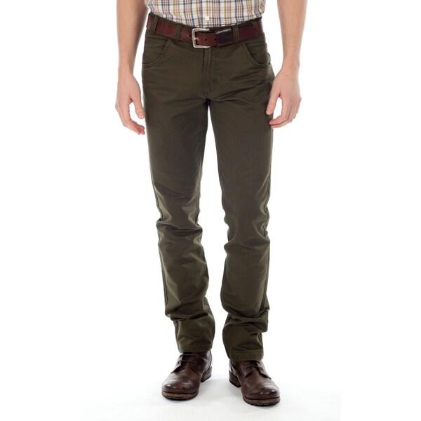 191 Unlimited Men's Hunter Green 100 Percent Cotton Straight-Leg Pants