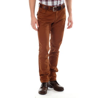191 Unlimited Men's Orange Straight Leg Five-Pocket Pants