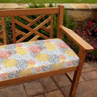 Tango Bloom 48-inch Outdoor Bench Cushion
