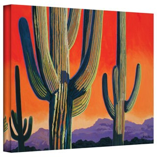 Rick Kersten 'Saguaro Dawn' Gallery Wrapped Canvas