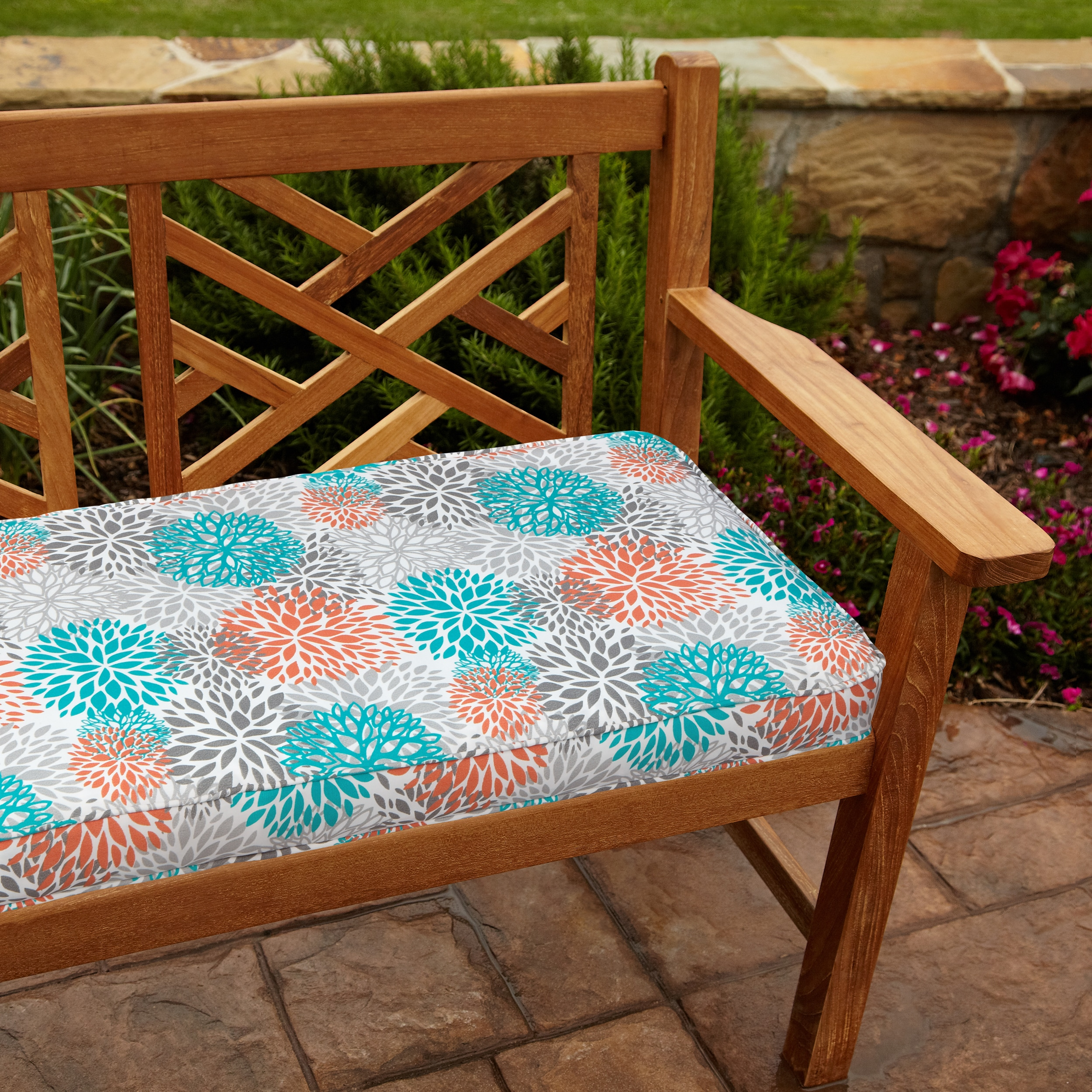 Tropic Bloom 48-inch Outdoor Bench Cushion at Sears.com