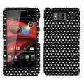 MYBAT Black/ White Dots Diamond Phone Case Cover for Motorola XT926M
