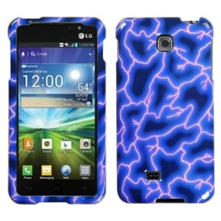 MYBAT Blue Lightning Phone Protector Case Cover for LG P870 Escape