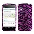 MYBAT Zebra SkinPink/ Black 2D Silver Phone Case for LG E960 Nexus 4